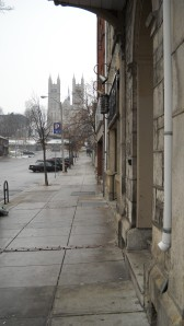 Not quite Notre Dame but Church of Our Lady in downtown Guelph evokes something old-worldly on a grey early December morning.
